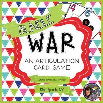 WAR: An Articulation Card Game {ALL SOUNDS BUNDLE}