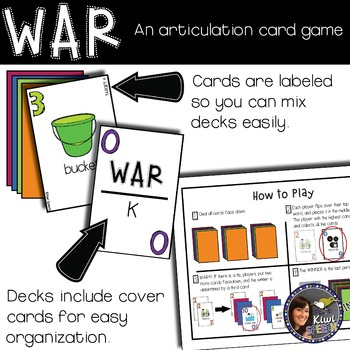 WAR: An Articulation Card Game {S, S blends, L, L blends}