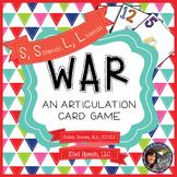 WAR: An Articulation Card Game {S, S blends, L, L blends}