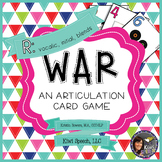 WAR: An Articulation Card Game {R: initial R, vocalic R, R blends}