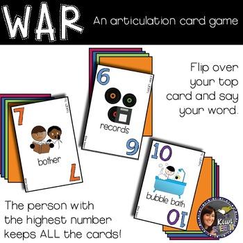 WAR: An Articulation Card Game {R: initial R, vocalic R, R blends}