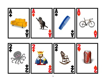 WAR CARD GAME Picture Articulation Card Game for /K/- Speech Therapy