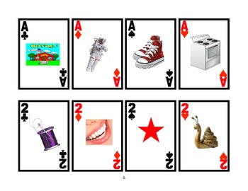 WAR CARD GAME Picture Articulation Card Game for /S/ Blends- Speech Therapy