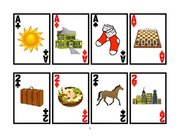 WAR CARD GAME Picture Articulation Card Game for /S/- Speech Therapy