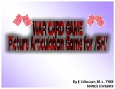 WAR CARD GAME Picture Articulation Card Game for /SH/- Speech Therapy