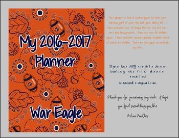WAR EAGLE!! Auburn Teacher Notebook / Organizer / Clip Art * Tigers