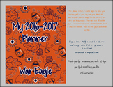 WAR EAGLE!! Auburn Teacher Notebook / Organizer / Clip Art