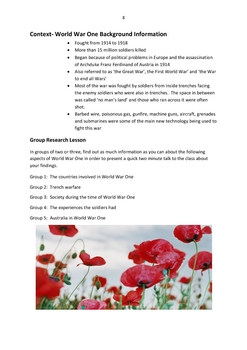 WAR POETRY UNIT for English teachers