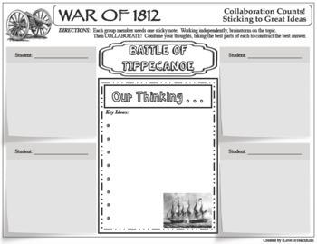 WAR of 1812 BATTLES Collaboration Activities BUNDLE 11 Activities in all