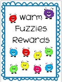 WARM FUZZIES Reward Tickets Coupons for classroom behavior