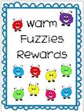 WARM FUZZIES Reward Tickets Coupons for classroom behavior NOW EDITABLE!