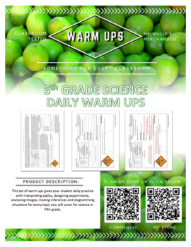 WARM UPS - 5th Grade Science (18 Weeks)