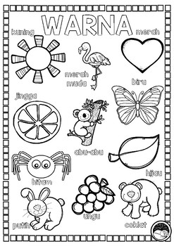 WARNA bahasa indonesia 1 PAGE COLOURING-IN & 1 PAGE POSTER
