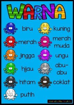 WARNA colour slime ball poster BAHASA INDONESIA indonesian