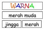 WARNA interactive chart template ~ bahasa indonesia Indonesian (colour chart)