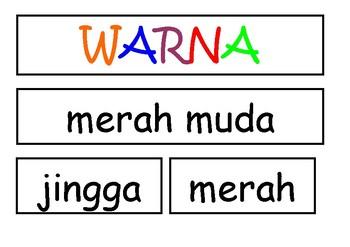 WARNA interactive chart template ~ bahasa indonesia Indonesian (colour chart)