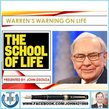 WARREN BUFFETT ON SCHOOL OF LIFE