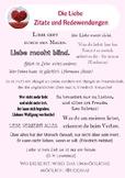 WAS DENKST DU? German Quotes speaking / discussion, love + money, Deutsch