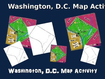 WASHINGTON, D.C. Map Activity- fun, engaging, follow-along