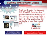 WASHINGTON Quotes Writing Practice: RACE Strategy W 6.2