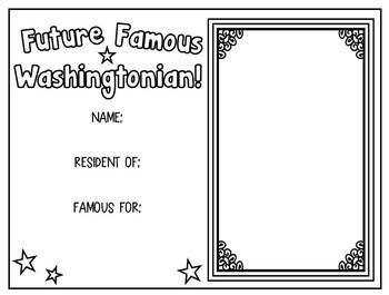 NEW! WASHINGTON STATE - Famous Washingtonians