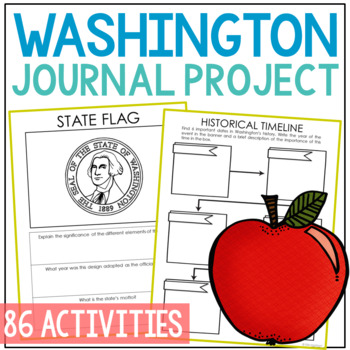 WASHINGTON History Project, Differentiated State Research Journal {EDITABLE}