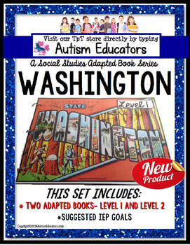 WASHINGTON State Symbols ADAPTED BOOK for Special Educatio