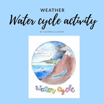 WATER CYCLE ACTIVITY - by colorfullllstudy