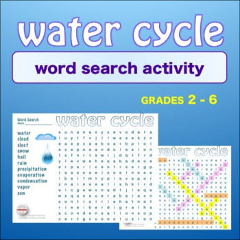 WATER CYCLE * WordSearch * Vocabulary*