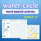 WATER CYCLE * WordSearch * Vocabulary* Warm Up * Bell Ringer *