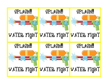 """WATER FIGHT!!! Long and Short """"e"""" 3 in 1"""