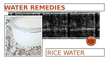 WATER REMEDIES: PRESENTATION