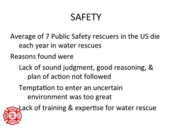 WATER RESCUE TECHNICAL AWARENESS