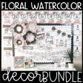 WATERCOLOR FLORAL CLASSROOM DECOR COLLECTION