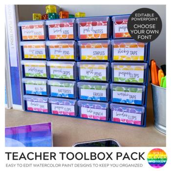 WATERCOLOR PAINT Teacher Toolbox Pack