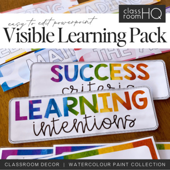WATERCOLOR PAINT Visible Learning Pack