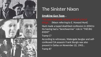"WATERGATE - ""Nixon's Motive to Obstruct Justice"" PowerPoint"