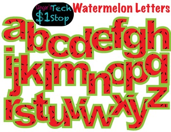 FRUITY WATERMELON * Bulletin Board Letters * Lower Case * Alphabet