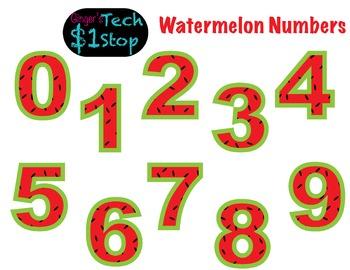 FRUITY WATERMELON * Bulletin Board Letters * Numbers * 0123456789