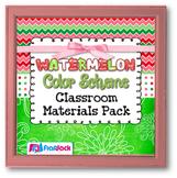 WATERMELON Color Scheme Classroom Decor Materials Pack