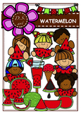 WATERMELON Digital Clipart (color and black&white)