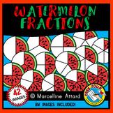 WATERMELON FRACTIONS CLIPART: SUMMER CLIPART: GEOMETRY CLI