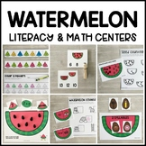 WATERMELON Literacy & Math Centers for Summer (Preschool,
