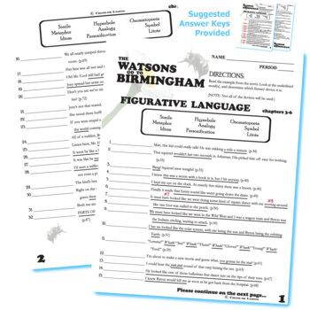 THE WATSONS GO TO BIRMINGHAM Figurative Language (64 quotes)