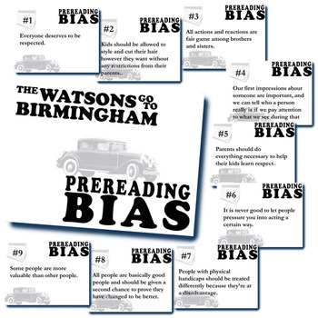 THE WATSONS GO TO BIRMINGHAM PreReading Bias