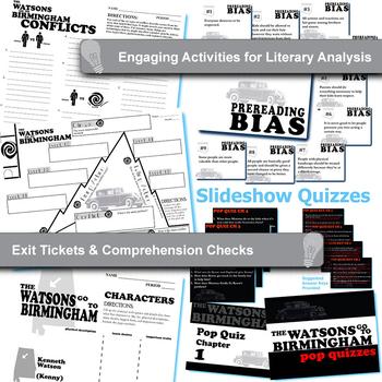 THE WATSONS GO TO BIRMINGHAM Unit - Novel Study Bundle - Literature Guide