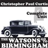 THE WATSONS GO TO BIRMINGHAM Unit Plan - Novel Study Bundle - Literature Guide