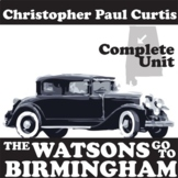 THE WATSONS GO TO BIRMINGHAM Unit Plan - Novel Study Bundl