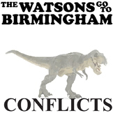 THE WATSONS GO TO BIRMINGHAM Conflict Graphic Organizer - 6 Types