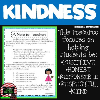 Teaching Classroom Kindness and More (Character Education Resource)